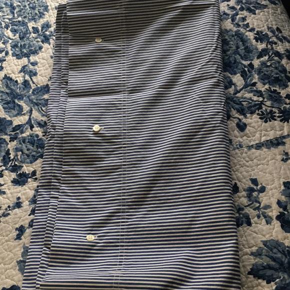Ralph Lauren king button pillowcases blue white